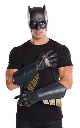 Super Hero Gloves (Rubie's Men's Batman v Superman: Dawn of Justice Batman Gauntlets)