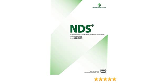 Ansi Awc Nds 2017 National Design Specification For Wood