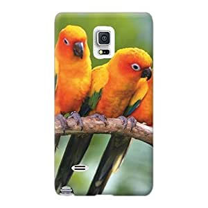 Shock-Absorbing Hard Cell-phone Cases For Samsung Galaxy Note 4 With Customized Attractive Sun Conure Parrots Pictures