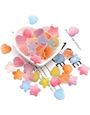 iSuperb 60pcs Slime Charms Mixed Candy Resin Cabochon Love Heart Mini Sweet Candy Model Clay Polymer DIY Slime Accessories for Scrapbooking Crafts