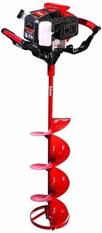 Eskimo Z51Q10 Shark 51cc Powerhead with 10-Inch Ice Auger, Red/Black (Eskimo Auger Bag)