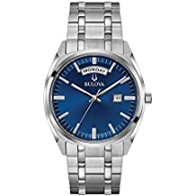 Bulova Men's 96C125XG Quartz Blue Dial Silver-Tone Bracelet 39mm Watch (Certified Refurbished)