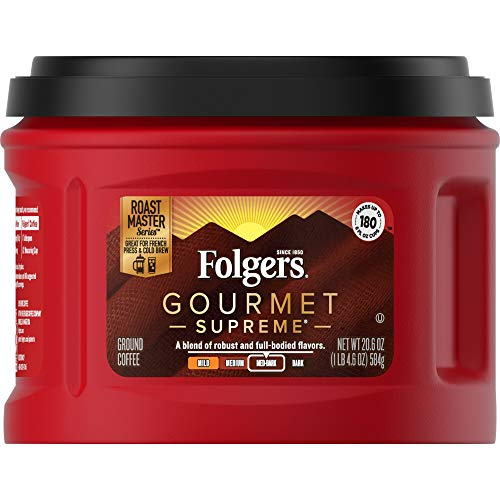 Folgers Gourmet Supreme Caffeinated Packaging
