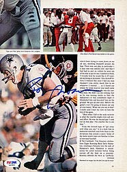 (Roger Staubach Signed Magazine Page Photo Cowboys - PSA/DNA Authentication - Autographed NFL Football Photos)