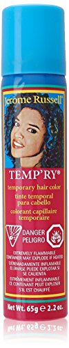 Jerome Russell Temp'ry Hair Color Spray, Silver, 2.2 Fluid Ounce -