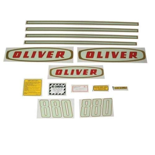 Tractor Decal Set, Oliver 880 Early, Mylar