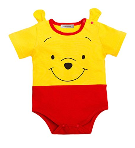 [StylesILove Adorable Character Unisex Baby Costume Jumpsuit (80/6-12 Months, Pooh)] (Elephant Ears Costume Pattern)