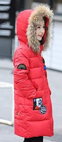 M/ädchen Wintermantel 2018 M/ädchen Mantel Daunenjacke Winter Mantel Fellkapuze Parka Outerwear Oberbekleidung Kinderjacke