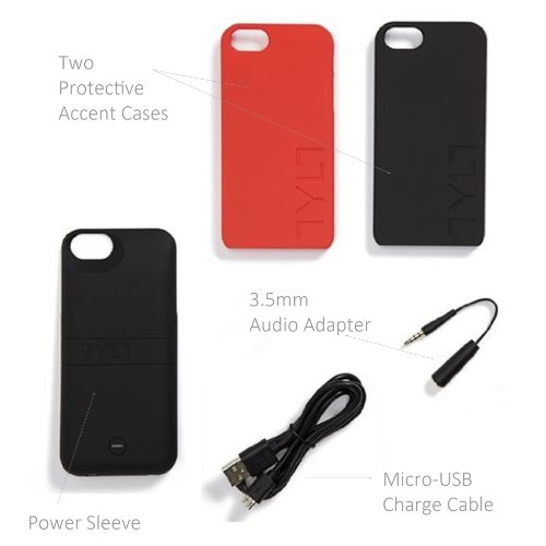 Tylt IP5PCRD2 T Energi Sliding power event for iPhone 5 5S 5C Retail Packaging Red Cases