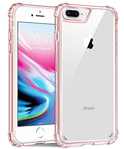 iPhone 8 Plus Case,iPhone 7 Plus Case, iPhone 6S Plus/6 Plus Case,UZER Transparent Shock-Absorption Bumper [Crystal Clear] and Anti-Scratch Back Cover Case for iPhone 8 Plus/7 Plus/6S Plus/6 Plus 5.5