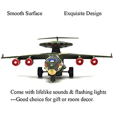 CORPER TOYS Military Planes Metal Die cast Toy Airplane Air Force Model Aircraft Pull Back Fighter Jets with Lights and Sounds for Kids Boys: Toys & Games