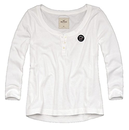 hollister-womens-henley-t-shirt-easy-fit-medium-white