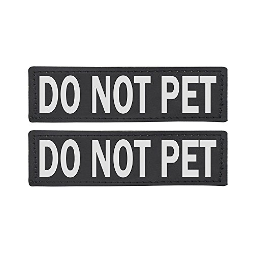 Not Pet Harness - Do Not Pet Patch - Attachable Patches with Hook Backing for Dog Harness Vest or Collar - Service Dog, Emotional Support, In Training, Service Dog In Training, and Therapy Dog Patches, by Industrial Pu