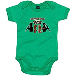 Galactic Tour, Printed Baby Grow - Kelly Green/Transfer 12-18 Months