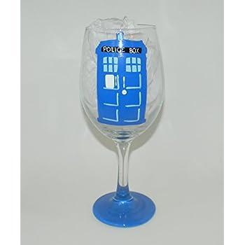 Dr Who Tardis wine glass