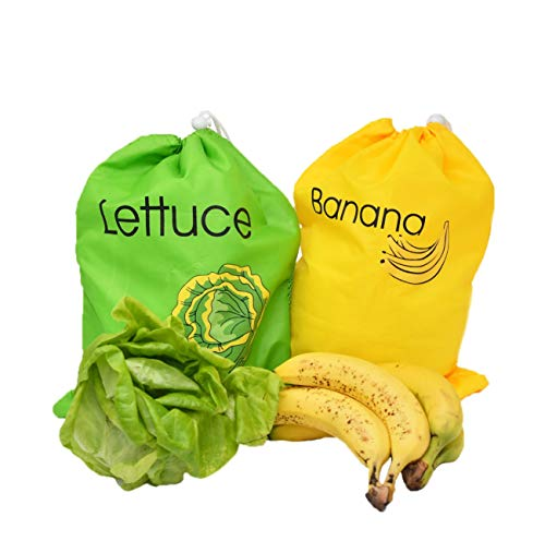 (Banana Bag and Lettuce Bag Set | Produce Saver Bags - by Home-X)