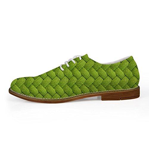 Abbracci Idea Piante Verdi Modello Mens Casual Oxford Flats Lace Up Shoes Leaf 6