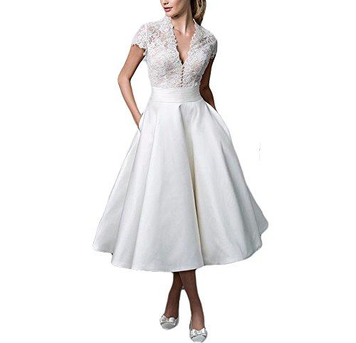 Delle Donne Abiti Sposa Size Corti Sposa 2017 Avorio Plus Drehouse Dell'annata 1950 Abiti Da Da vtTEEw