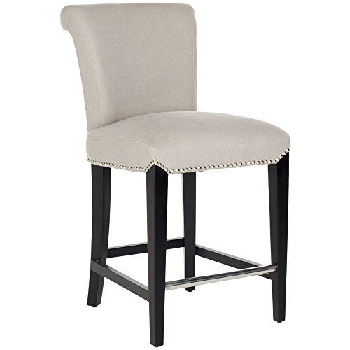 Safavieh Mercer Collection Seth Taupe Linen 25.9-inch Counter Stool