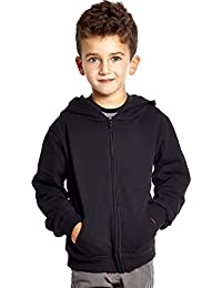 Boys Girls 100% Cotton Hoodie (Size 2 Toddler-14 Years) Variety of Colors