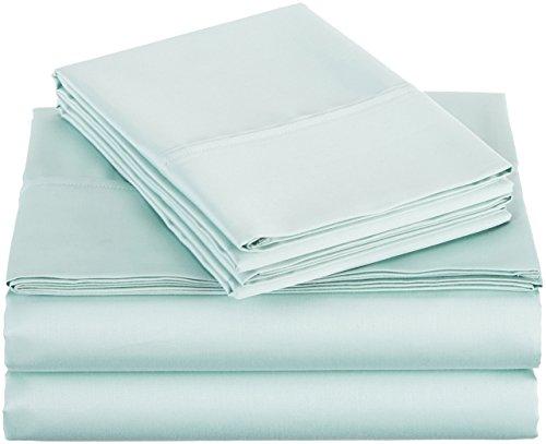 Amazonbasics 400 Thread Count Sheet Set Twin Seafoam