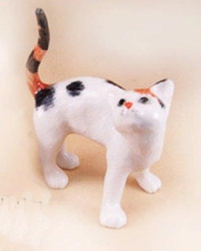 ChangThai Design Dollhouse Miniatures Ceramic Lazy Cat No.2 FIGURINE Animals Decor by ChangThai Design
