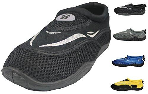 Greg Michaels Herren Wasserschuhe Aqua Socken - hohe Haltbarkeit, angenehm in Wasser und an der Oberfläche zu tragen Schwarz - 4