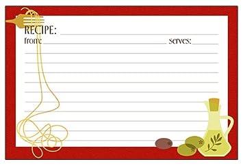 Meadowsweet Kitchens Recipe Card Set   Pizza
