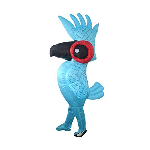Xnferty Inflatable Parrot Costume, Halloween Fancy Suit Dress Pumpkin Costume Bodysuit Blow Up Cosplay Fantasy Costumes for Adult]()