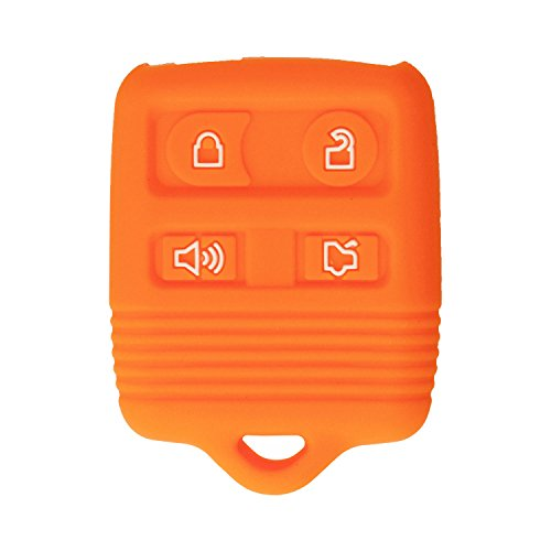 - qualitykeylessplus Protective Rubber Silicone Cover for 4 Button Ford Keyless Entry Remote Fobs FCC ID: CWTWB1U331 / CWTWB1U345 Part #2S4T-15K601-AB with Keytag Return Service