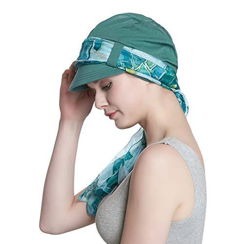 Head Scarf for Women Chemo Cotton Baseball Cap Sun Hat Visor