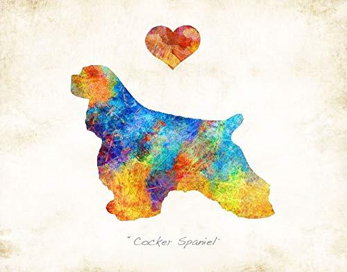 (COCKER SPANIEL Dog Breed Watercolor Art Print by Dan Morris)