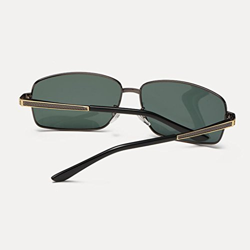 Protective New Gifts Star Protective Black soleil Sports UV400 plein Lunettes Polarized soleil Retro A de Personn Sunglasses Lunettes de Sun de soleil de pour hommes Visor Dark air Green UV Conduite Frame; Lunettes Color Hiker Gun xwqPBa1