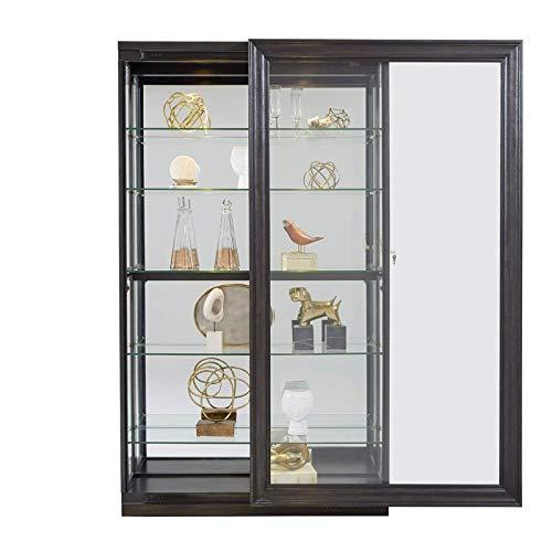 Pulaski P021553 Rockford Mirrored Two Way Sliding Door Curio Cabinet 45.9'' x 14.8'' x 80.0'' by Pulaski (Image #5)