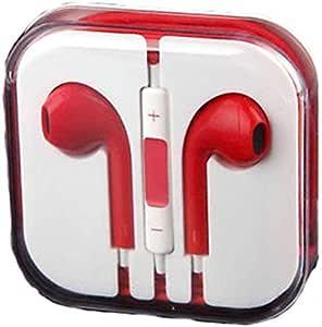 سماعة أذن زرقاء مع تحكم بالصوت عن بعد لجهاز iPad iPhone 5 5S 5C