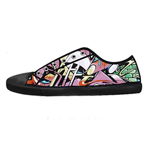 Custom Graffiti Mens Canvas shoes I lacci delle scarpe in Alto sopra le scarpe da ginnastica di scarpe scarpe di Tela.