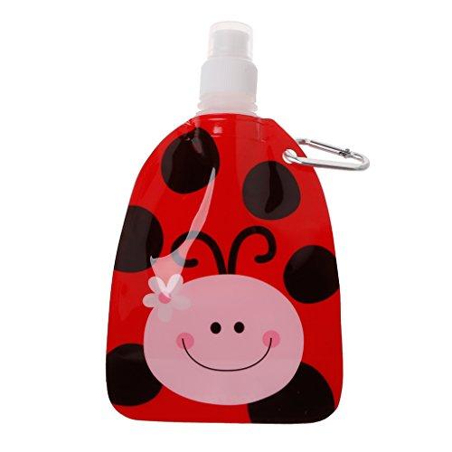 OTGO 360ml Eco Friendly BPA Free Foldable Cartoon Water Bag Travel Drink Bottle for Kids (Animal - Bottle 360 Ml