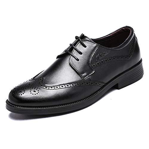 LXLA- Herren Brogue Business Formale Lederschuhe Herren Lace up Casual Dress Loafers Für Männer (Farbe : Brown, größe : 6.5 US/5.5 UK) Schwarz