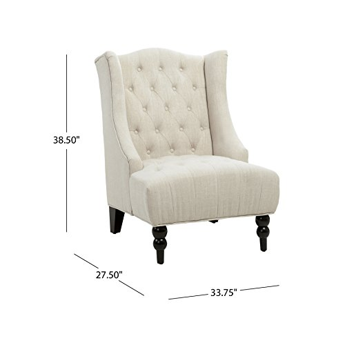 home, kitchen, furniture, living room furniture,  chairs 8 picture Christopher Knight Home Clarice Accent Chair, Beige deals