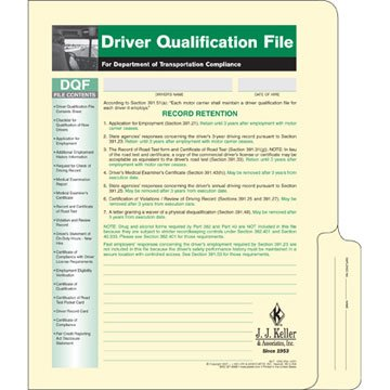 Driver Qualification File Packet (Single Copy) (Qty: 5 Units)