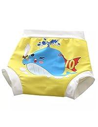 Zerci Toddler Baby Boys Girls Cute High Waist Beach Swimming Trunks Nappies Shorts