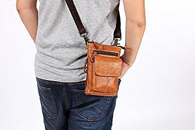 Mens Vintage Wallet Leather Backpack Belt Bag Handbag Crossbody Mobile Phone Bag