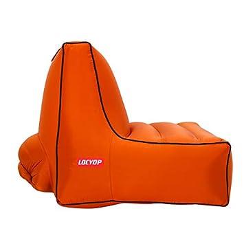 Amazon.com: LOCYOP Silla inflable Sofá de aire, portátil ...