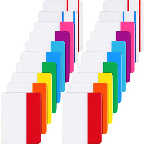 Jovitec 400 Pieces Tabs 2 Inch Sticky Index Tabs, Writable and Repositionable File Tabs Flags for Pages or Book Markers, Reading Notes, Classify Files, 20 Sets 10 Colors (400 Pieces - Labels File Folder