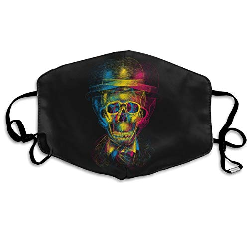 YUANSHAN Dust Mask Skull Hat Anaglyph Drawing Outdoor