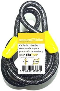 Steel Wiring Motorcycles 2 Meters Bike Chain Lock Cycling Car Cover Double Loop