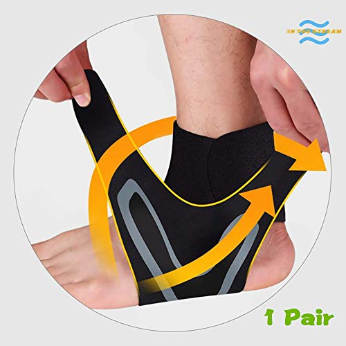 (DADE Ankle Support Breathable Ankle Brace for Football Basketball Running Ankle Sprain Men Women,Sports -One Size Fits All.Instant Relief & Support for Achilles Tendonitis)