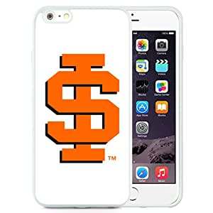 Fashionable And Unique Custom Designed With NCAA Big Sky Conference Football Idaho State Bengals 4 Protective Cell Phone Hardshell Cover Case For iPhone 6 Plus 5.5 Inch White