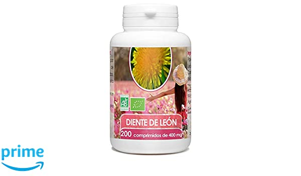 Diente de León Orgánico - 400mg - 200 comprimidos: Amazon.es: Salud y cuidado personal