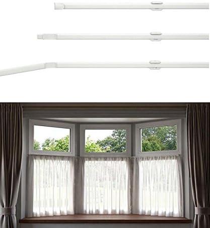 Ians Emporium Flexi Net Bay Window Rod Size 475cm/187 Ideal For All Window Shapes including Bay windows
